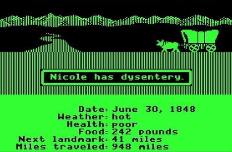Oregon Trail Picture - Dysentary is no Fun