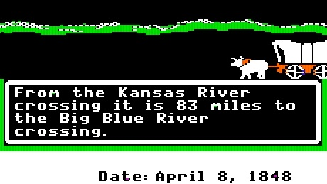 Oregon Trail Picture Crossing River