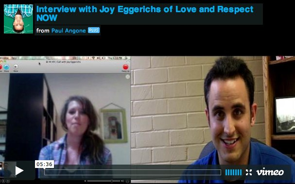Interview Picture with Joy Eggerich and Paul Angone