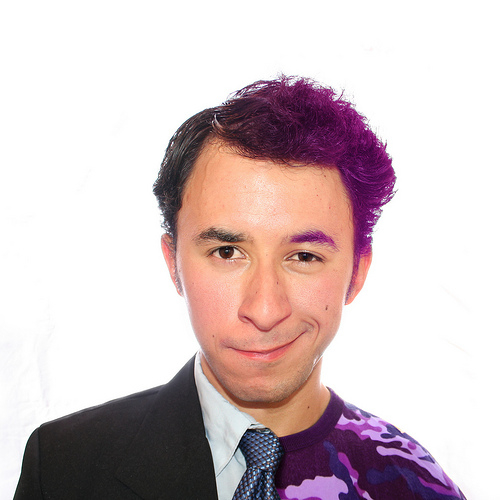 Picture of New Future of GenY Leaders - with purple hair...