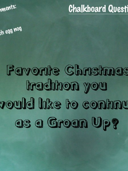 Favorite Christmas Tradition. Do Tell