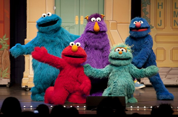 Picture of the Crew of Sesame Street