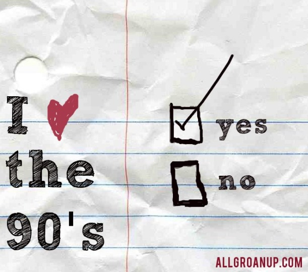 I Love the 90s. Yes or No. Passing a note