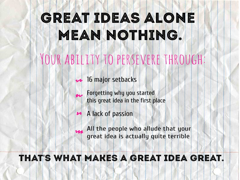 The Secret to Having a Great Idea