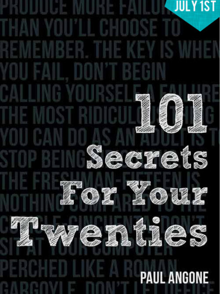 101 Secrets for your Twenties in Book Stores Today!