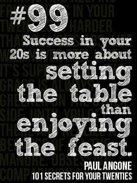 In Your Twenties? Trust the Process