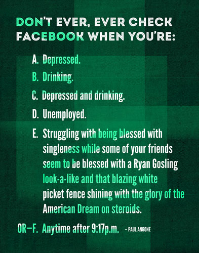 Don't Check Facebook When | Funny Quote Print