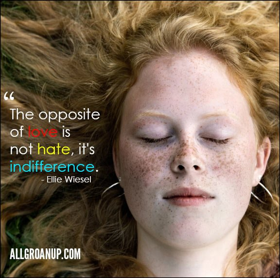 The Opposite of Love is Not Hate, it's Indifference. - AllGroanUp.com