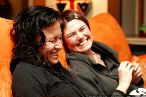Twentysomething Girls Smiling