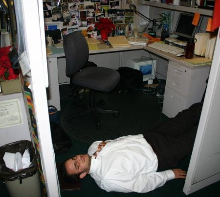 Me in a cubicle