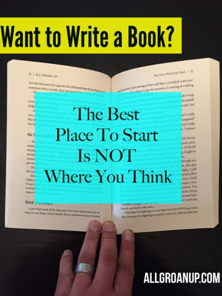 Want to write a book? Start here...
