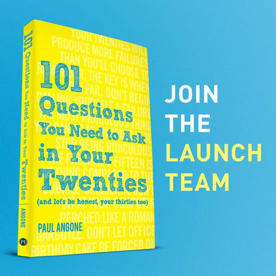 Join the 101 Questions For Your Twenties Launch Team