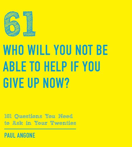 Why you can't give up now…